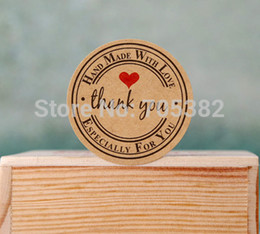 Wholesale Sticker Seals - Wholesale-Lovely round thank you letter decoration sticker,seal Stickers,gift adhesive label(ss-1551)
