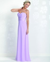 Wholesale Bridemaid Black Dress Gown - bridesmaid dresses Simple Sweetheart Long Sheath In Purple Sleeveless With Lace-up Back Chiffon Plus Size Bridemaid Gowns