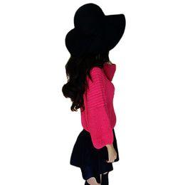 Wholesale Vintage Cowboy Hats - S5Q Women's Winter Classic Vintage Woolen Blower Jazz Hat Trilby Style Cap Hats AAADYM