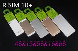 Wholesale 2g Gsm Sim Card - Latest Hot Unlock Card Original R-SIM 10+ RSIM 10 R SIM 10+for iphone 6S 6Splus 5S 4S IOS 9 9.1 GSM CDMA WCDMA 4G 3G 2G unlock sim 11 10