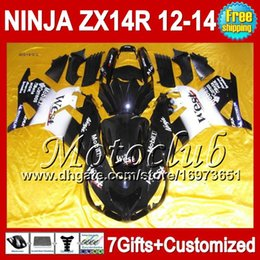 carenado zx14 negro Rebajas 7gifts para KAWASAKI NINJA ZX-14R Black west 12 13 12 13 ZX14 R 25C55 ZX 14R 2012 2013 2012 2013 Negro blanco ZX 14 R ZX14R 12-13 Fairing