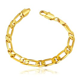 Wholesale Enamel 8mm Slide Charms - Men's New Thick Snake chains 8mm 20CM bracelets bangles 18K Golden B099 gift Bags free 2015 Jewelry