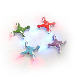 Wholesale Pink Helicopter Toy - CX 10 CX10 2.4G 4ch 6Axis Remote Control Mini Quadcopter RC helicopter Flying Xmas Kid children Toys For Gift