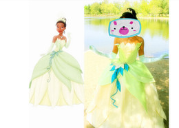 Wholesale Tiana Dress - Free shipping 2015 sexy costumes for women The Princess and the Frog Adult Princess Tiana Dress Cosplay Costume costume