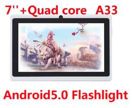 Планшетный ПК четырехъядерный фонарик 7 дюймов Q88 Android 5.0 двойная камера Емкостный экран 512 МБ 4 ГБ Wi-Fi MID DHL бесплатно от