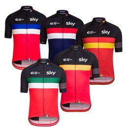 Wholesale Spain Cycling - 2016 Tour De France SKY Cycling Tops 21st Century Belgium Italy England Spain France Cycling Jerseys Quick Dry Bike Wear XS-4XL