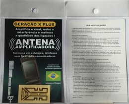 Wholesale Wholesale Cell Boosters - newest Antenna stickers for all cell phone,booster stickers for all cell phone,with the Portuguese Packing 500pcs lot