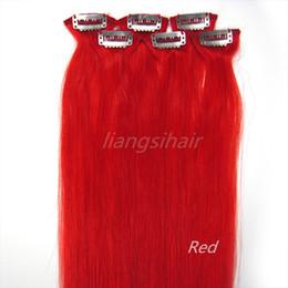 Extensions de cheveux humains Remy vierge brésilienne Clip dans les faisceaux de cheveux 20