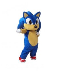 Wholesale Cat Mascot Costume Fancy Dress - 2016 Hot New Sonic the Hedgehog Halloween Mascot cat Costume Fancy Dress Hot Sale Free Shipping