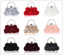 Wholesale Young Girls Stocking - NIne Style Bride Hand Bags Flower Rose Weding Party Bridal Bags Free Shipping Best Sale In Stock Young Girl Bags Party Prom Occasion SHJ