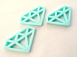 Wholesale Phone Cabochons - 80pcs big Diamond Resin Cabochons Beads Bead DIY Cell Phone Decoration Jewelry Making Finding Flatbacks 39mm Kitsch mix color