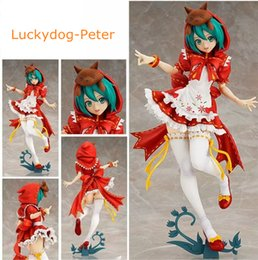 Wholesale Doll Hoods - Free Shipping Hatsune Miku Action Figure Cute Large-Size Susan Miku The Little Red Riding-hood Doll PVC ACGN figure Toy Anime 230MM