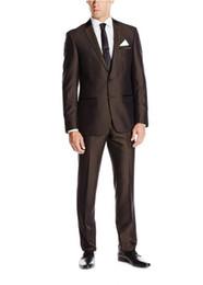 Wholesale Simple Mens Jacket - 2015 Hot Simple Linen Suits Men Dark Brown Wedding Suits Grooms Tuxedos Mens Suits Fit Groomsmen Suits (Jacket+Pant+ Tie) K013