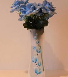 vases en bois Promotion Vase Pliable Gros Mariages Vases Sac D'eau En Plastique PVC Décoration Ornements Complets Vente Gratuite