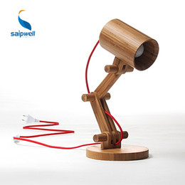 Wholesale Touch Wall Switch China - Pure Bamboo Madefrom China light desk lamp reading lamps for bed luminaire to table wall mount avaliable with Braided cable