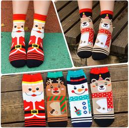 Wholesale Teddy Bear Winter - 1000X Winter Auntumn Women Girls Socks Christmas Snowman Cartoon Santa Claus socks cotton printed Squirrel teddy bear Xmas gift