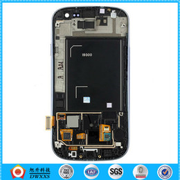Wholesale S3 Original Black Display - Wholesale-New Original LCD Display + Touch screen Assembly for Samsung Galaxy SIII S3 i9300 Black + Frame Free Shipping !!!Good testing