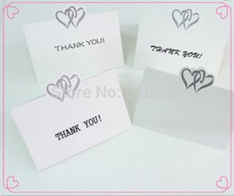 """Wholesale Wholesale Thank Cards Wedding - Wholesale- 25pcs Love Heart Wedding Party Place Cards Favor Decor,name card.wedding place card(No printing """"thank you """""""