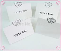 "Wholesale Thanks Wedding Card - Wholesale- 25pcs Love Heart Wedding Party Place Cards Favor Decor,name card.wedding place card(No printing ""thank you """
