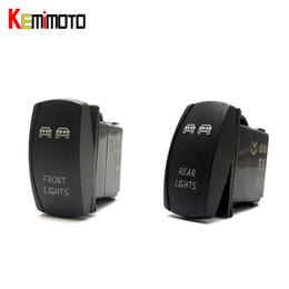 Wholesale rocker led switch - Wholesale- KEMiMOTO 1 SET For Polaris RZR XP 1000 UTV Blue Ranger Rocker Switch Backlit LED Front and Rear Light Switch 2015 For Yamaha