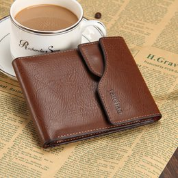 Wholesale photo trends - 2015 Men Wallets Casual man retro fashion trend two fold genuine leather purse card Holder top high quality