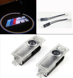 Wholesale Bmw X5 Led - LED Car Logo Door Laser Projector Welcome Ghost Shadow Light For BMW M E60 E90 F10 GT X5 X6 X3 Z4 E85 M5