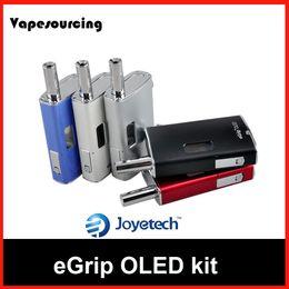 Wholesale Electronic Cigarette Joytech - Authentic Joytech eGrip OLED Kit egrip5~30W box mod starter kit version 2.0 Electronic Cigarette VV VW 1500mAH
