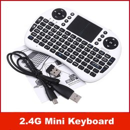 2019 rii мини-беспроводная клавиатура dhl Rii 2.4 ГГц беспроводная Портативная мини клавиатура + Fly Air MouseTouchpad для Android TV BOX MID XBOX360 PS3 HTPC