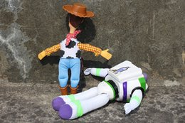 Wholesale Soft Plush Woody Doll - Wholesale-8' 20cm 2pcs set Toy Story Woody & Buzz Lightyear Plush Doll Soft Toy Free shipping