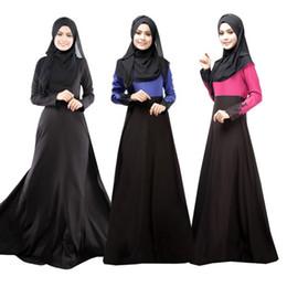 Wholesale Islamic Black Dress - Hot sale Muslim dress Abaya Turkish women clothing islamic abaya jilbab musulmane vestidos longos hijab clothing dubai kaftan longo Black