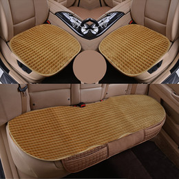 Wholesale Velour Cushions - Car Seat Cover Four Seasons Car Seat Cushion Monolithic No back Three-piece suit Non-slip Car Interior Accessories
