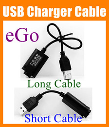 Wholesale Battery Charger Cables - eGO USB Cable Charger Electronic Cigarette USB Charger for eGo eGo-T EGO-C EGO-W e cig e-cig E-Cigarette ego 510 thread battery FJ004