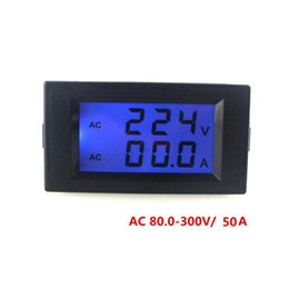 Wholesale Digital Volt Display - New Year 2016 220V 10A Digital Voltmeter Ammeter AC Amp Volt Meter With Blue LCD Display Current Panel Gause Free Shipping