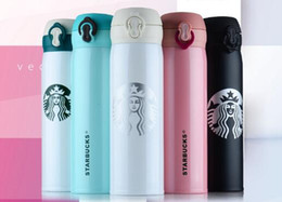 Wholesale Coffee Cup Warm - 6 color 304 stainless steel Starbucks portable cup coffee cup insulated vacuum beer beer cup 450ml TO196