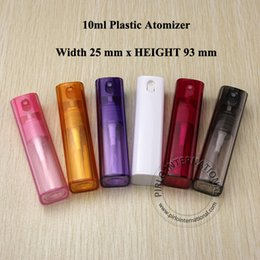 Wholesale Beautiful Empty Spray Bottle - Empty 10ml Travel Size Glass Refillable Perfume Bottles 10cc Beautiful Atomizer Container With Spray Bottle For Perfumes 10pcs