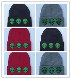 Wholesale Cool Beanie Hats For Women - Cheap 1pcs Europe Style 2016 New Winter Hats Fashion Alien Pattern Knitted Hat Street Beanie Hats for Men and Women Warm Wool Cool Cap
