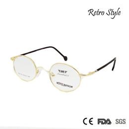 afc16a73a58 Wholesale- ZBZ New Vintage Glasses Frame Men Women Round Metal Frame Gold  Myopia Eyeglasses Retro Spectacle Frame Clear Lens