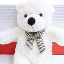 Wholesale Giant Cute Teddy Bear - Wholesale-New Hot 80CM Giant Big Cute Plush Stuffed Teddy Bear Huge Soft 100% Cotton Toy Best Gift DTZE #53444