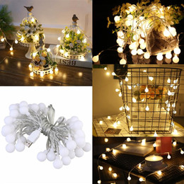 Wholesale Long String Led Christmas Lights - Wholesale- 50 LED Globe Long String Lights USB Operated 5M Led Ball Fairy Starry Light For Garden Party Wedding Decoration