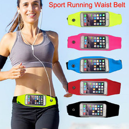 Wholesale Elastic Sports Waist Bag - Waterproof Sport Running Waist Belt pouch Reflective stripe Bag Gym Arm band Pack iphone 6 6plus inch Hanging Elastic Adjustable Waistband