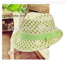 Wholesale Special Straw - Wholesale-2015 special offer solid adult women summer new fashion hollow woven straw cap sun hats for woman