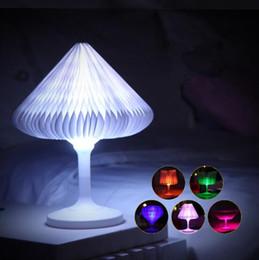 Wholesale Change Table Lamp - 3D Night Light DIY Shape Sculpture DuPont Paper LED Touch Table Lamp Touch Romantic Night Light Color Changing Lamp CCA8276 50pcs