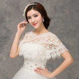 Wholesale Shawl For Lace Black Dress - 2015 Wedding Lace bolero wraps Bridal Accessoriers Appliques Bridal Wraps & Jackets For Wedding Dress Accessories Cloak Elegant