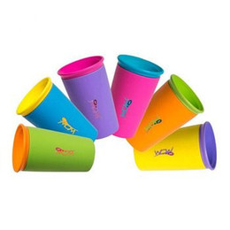 Wholesale Kid Plastic Cups - free shipping HOT Multi-style color options Wow Cup good quality for Kids with Freshness Lid Spill