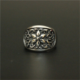 Wholesale Stainless Ring Fleur Lis - 3pc lot Wholesale New Arrival Fleur De Lis Ring 316L Stainless Steel Top Quality Men Boy Fashion Jewelry Punk Style Flower Ring