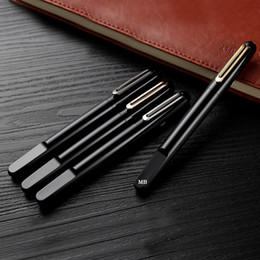 Wholesale magnetic black ball - Luxury M series top Resin Magnetic Shut down cap roller ball pen High quality business office supplies writing smooth MB brand gift pens