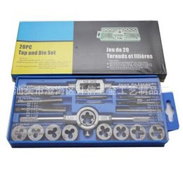 Wholesale Metric Threading Sets - 20pcs M3-M12 Screw Thread Metric Plugs Taps Tap wrench Die Wrench Set