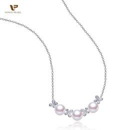 Wholesale Pendant Butterfly Pearl 925 - Wholesale-Silver 925 Butterfly Pearl Pendant for Women Freshwater pearl necklace 8-9mm DIAMOND Fine Pearl jewelry VPKDZ-3