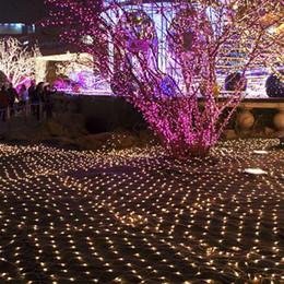 Wholesale Mesh Fairy Lights - 2m*3m Net Lights 220V 200LED Colorful Net Mesh Decorative Fairy LED String Lights Twinkle Lighting Christmas Wedding Party Decor