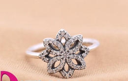 Wholesale Finger Ring Diy - 2016 NEWEST Authentic 925 sterling silver rings with clear CZ lotus Fit for pandora charms jewelry women DIY fashion Fingers Ring hot sale